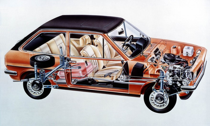 1976 Ford Fiesta cut-away.