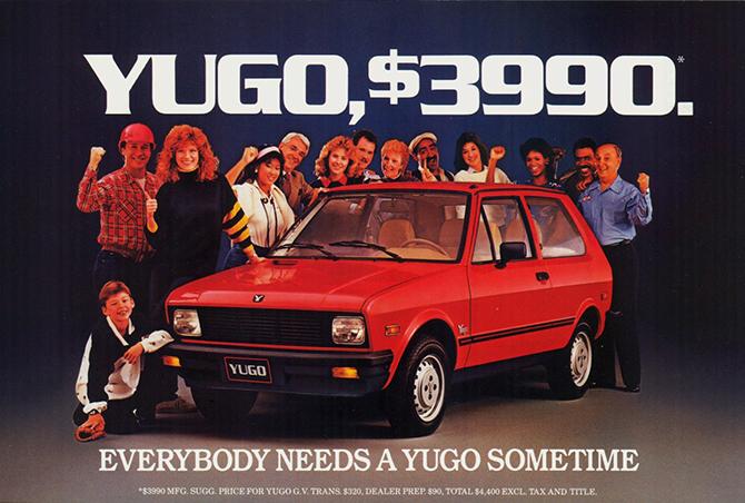 1985 Zastava Yugo GV Hatchback ad