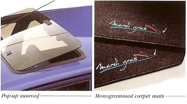 1995 Peugeot 205 Mardi Gras sunroof and carpets