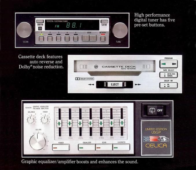 1980 Toyota Celica USGP high performance sound system.