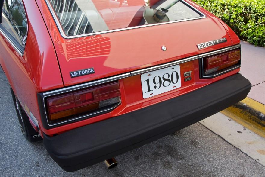 Red 1980 Toyota Celica USGP