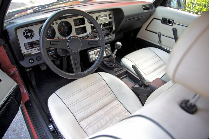 Red 1980 Toyota Celica USGP interior