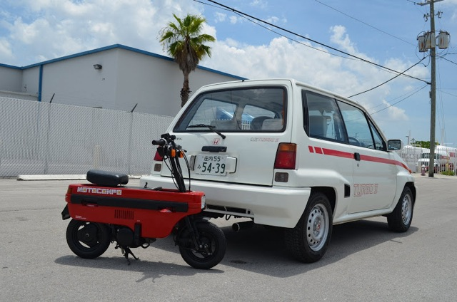 1986 Honda City Turbo II with Motocompo